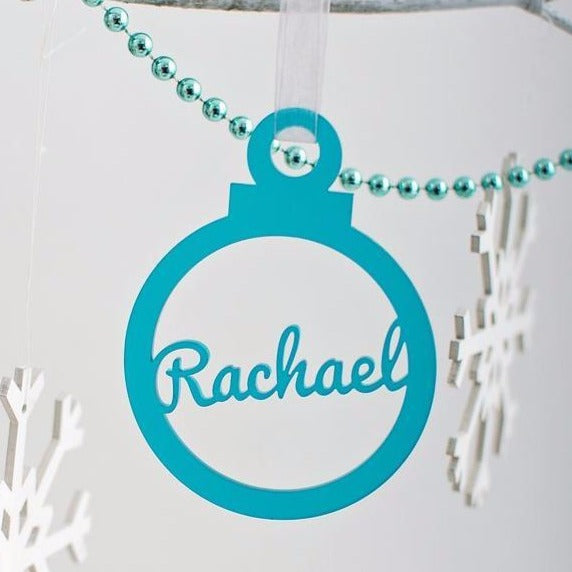 Classic bauble personalised with any name