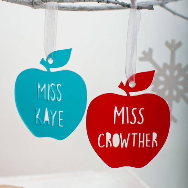 Apple hanging decoration