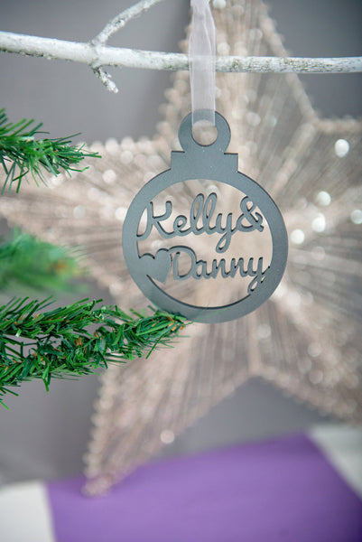 Double Name Personalised Tree Decoration