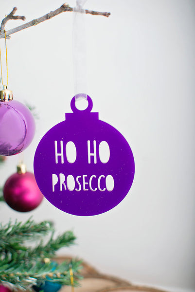 Ho Ho Prosecco - Tree decoration