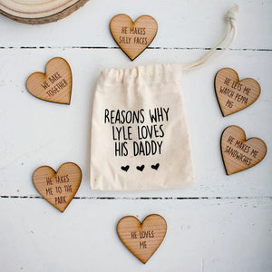 Reasons Why I Love You Keepsake Pouch