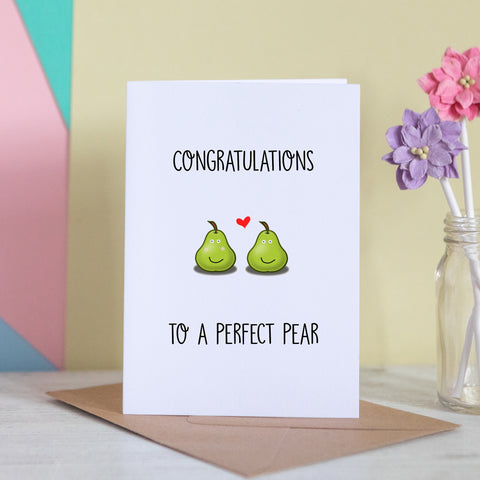 Congratulations To A Perfect Pear