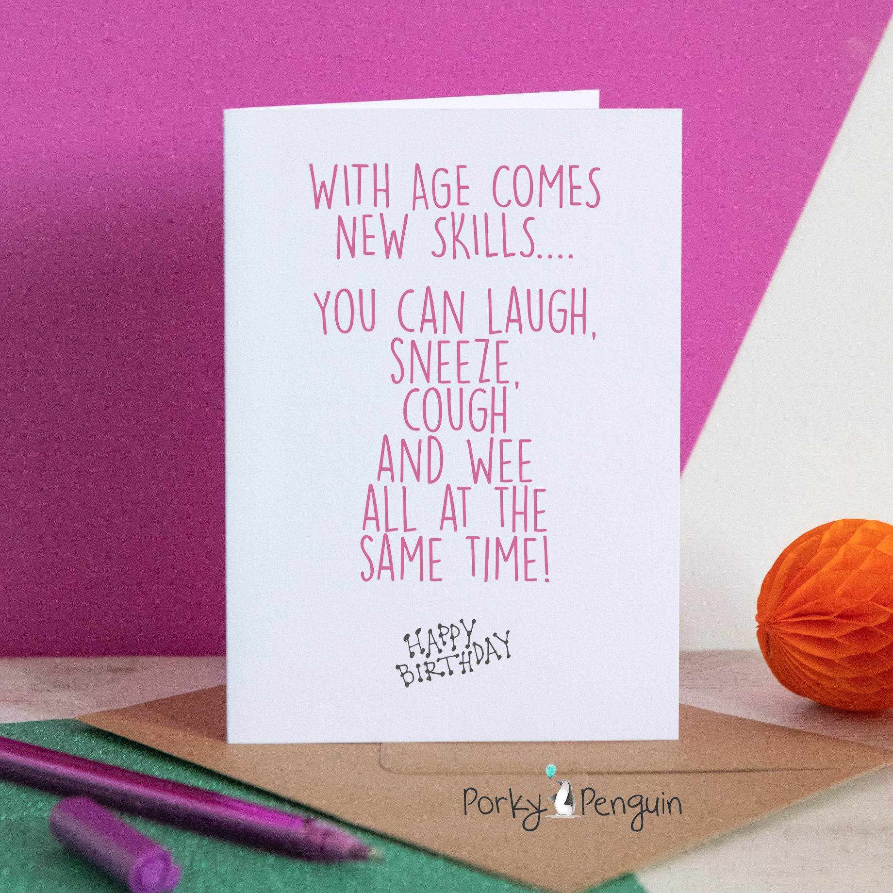 Cough Laugh & Sneeze Birthday Card