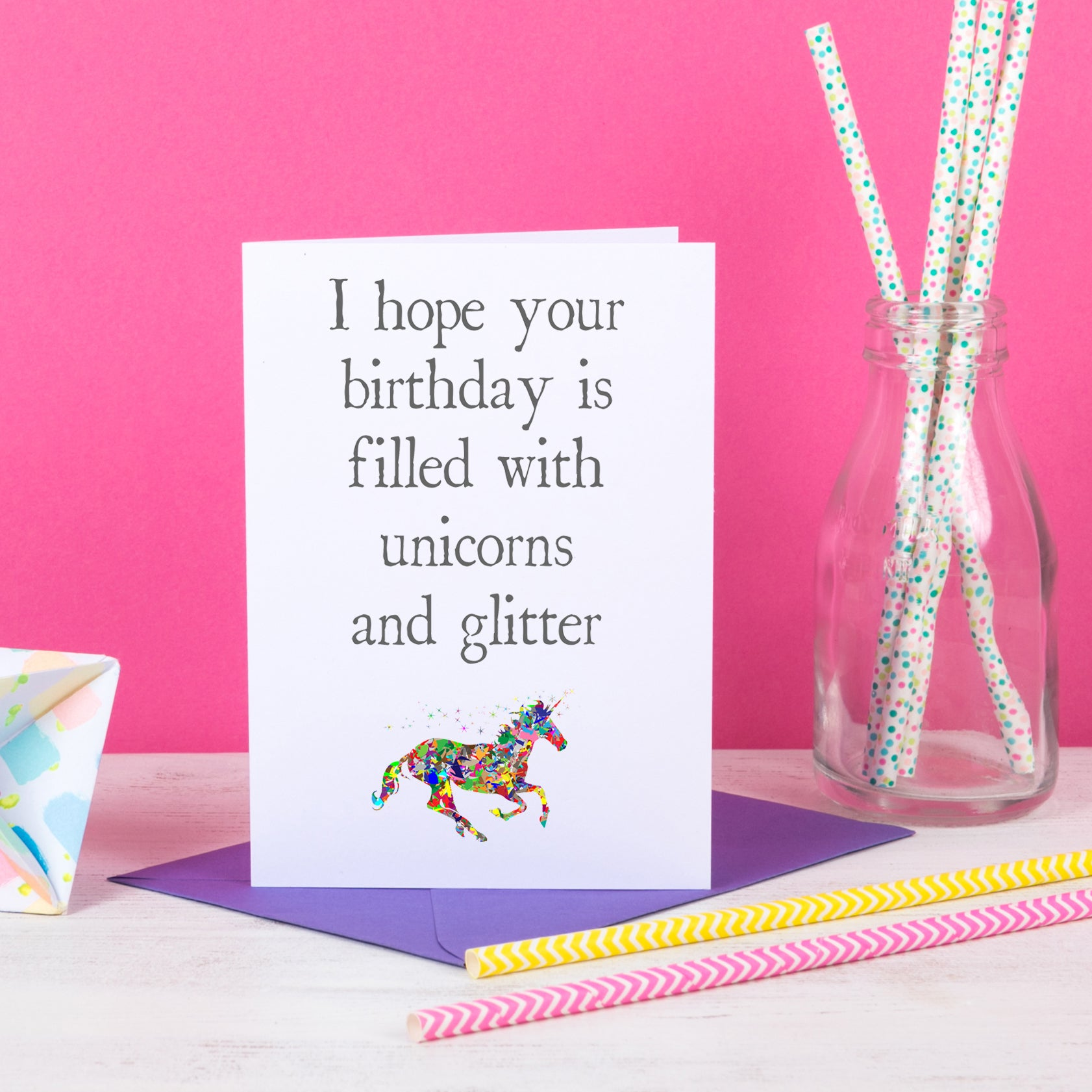 Birthday Filled With Unicorns And Glitter