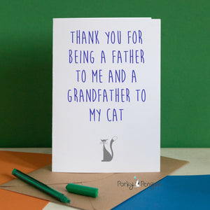 Thank You For Being A Grandfather To The Cat Card
