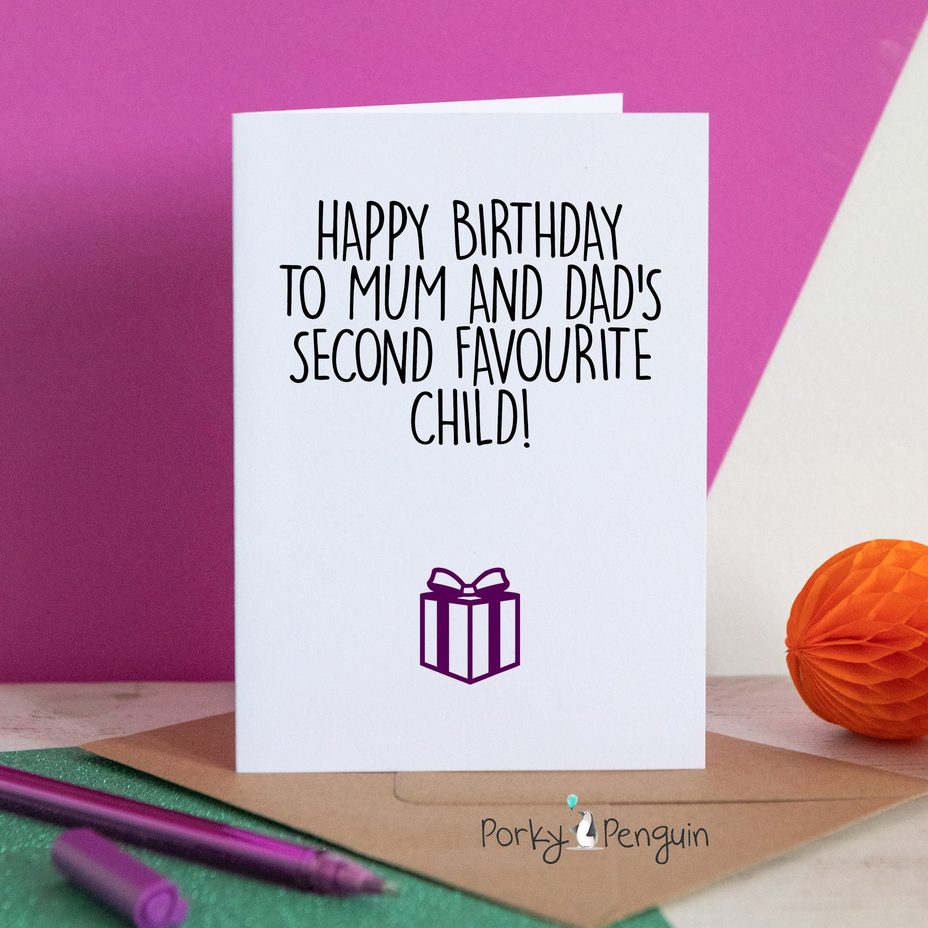 Second Favourite Child Birthday Card