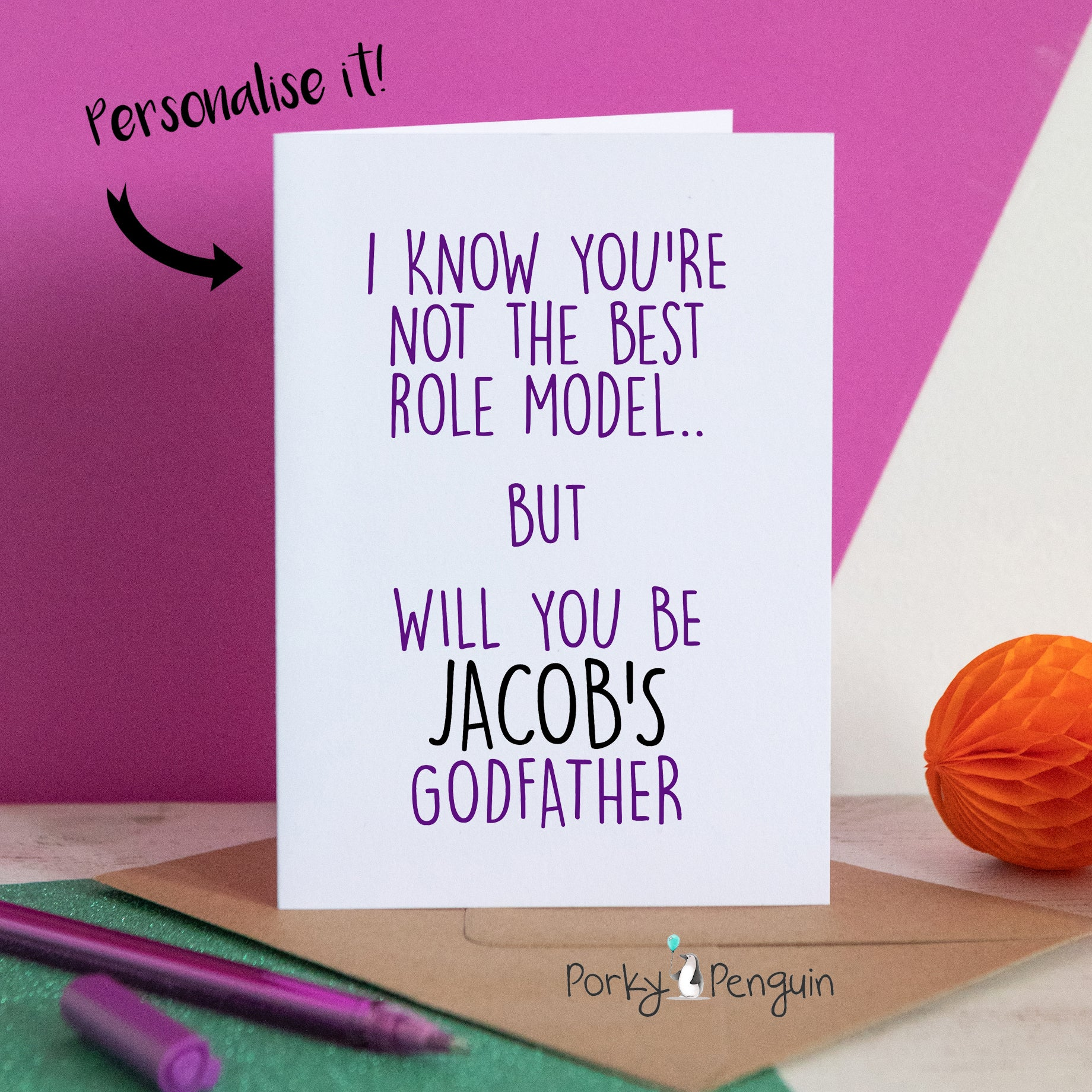 Godfather Role Model Card
