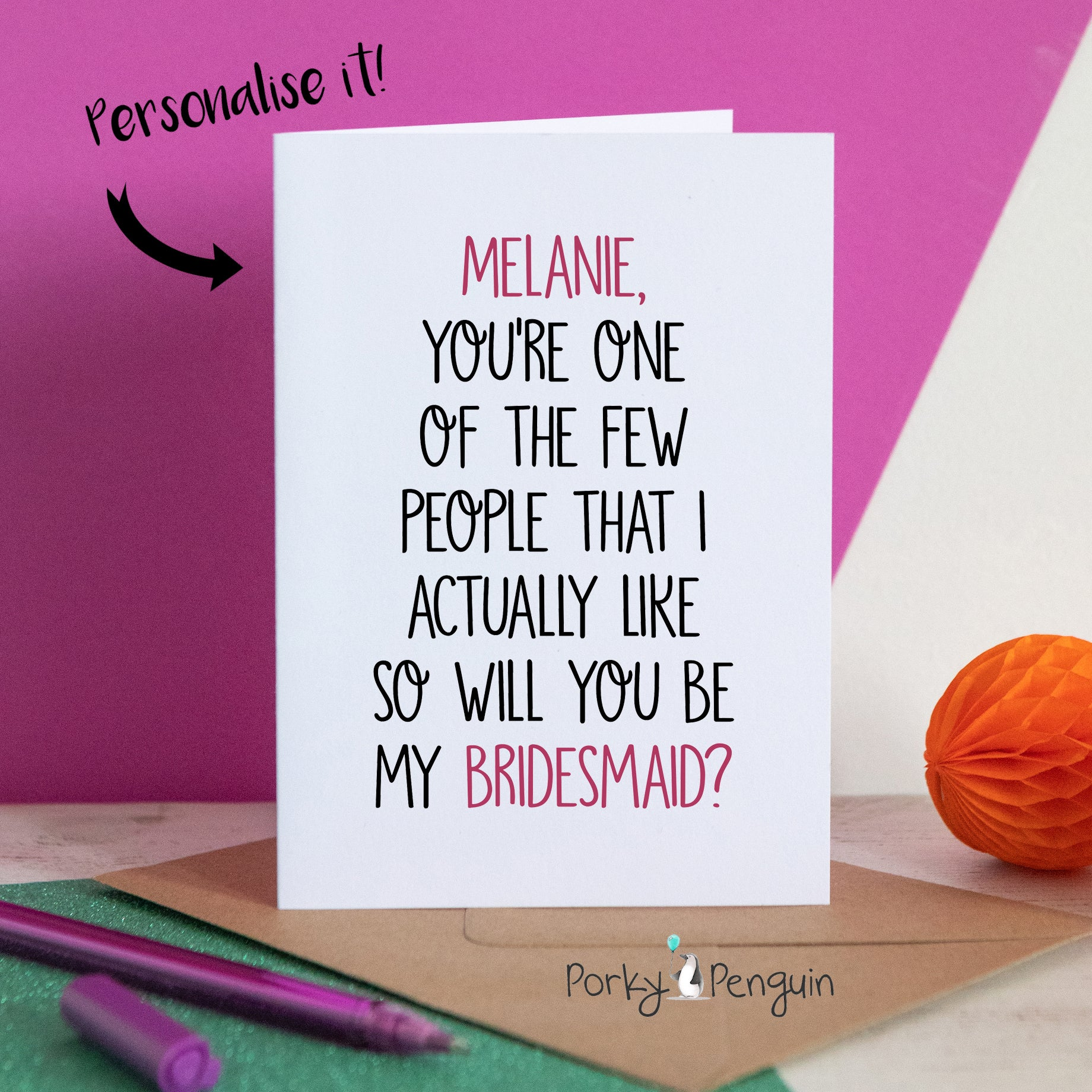 One Of The Few People I Like Bridesmaid Card