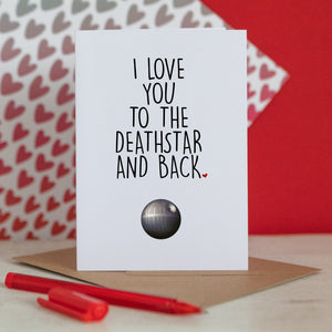 Death Star Valentine Card