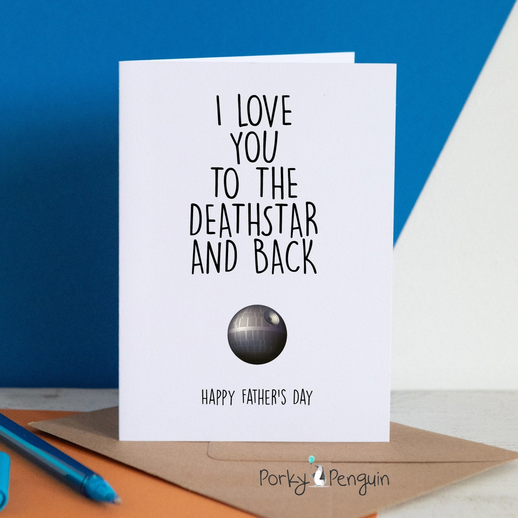 Star Wars Death Star Father's Day Card