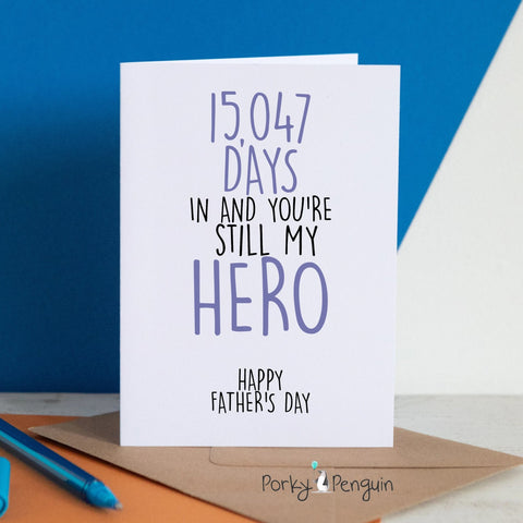 Personalised Days Old - Father's Day