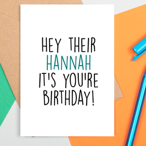 Grammar Police Birthday Card