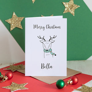Personalised Christmas Reindeer Card