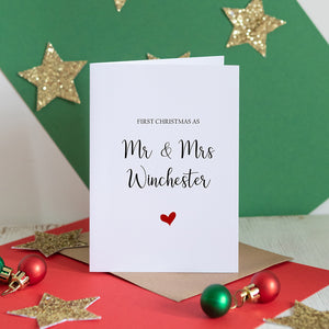 First Christmas as Mr & Mrs Card