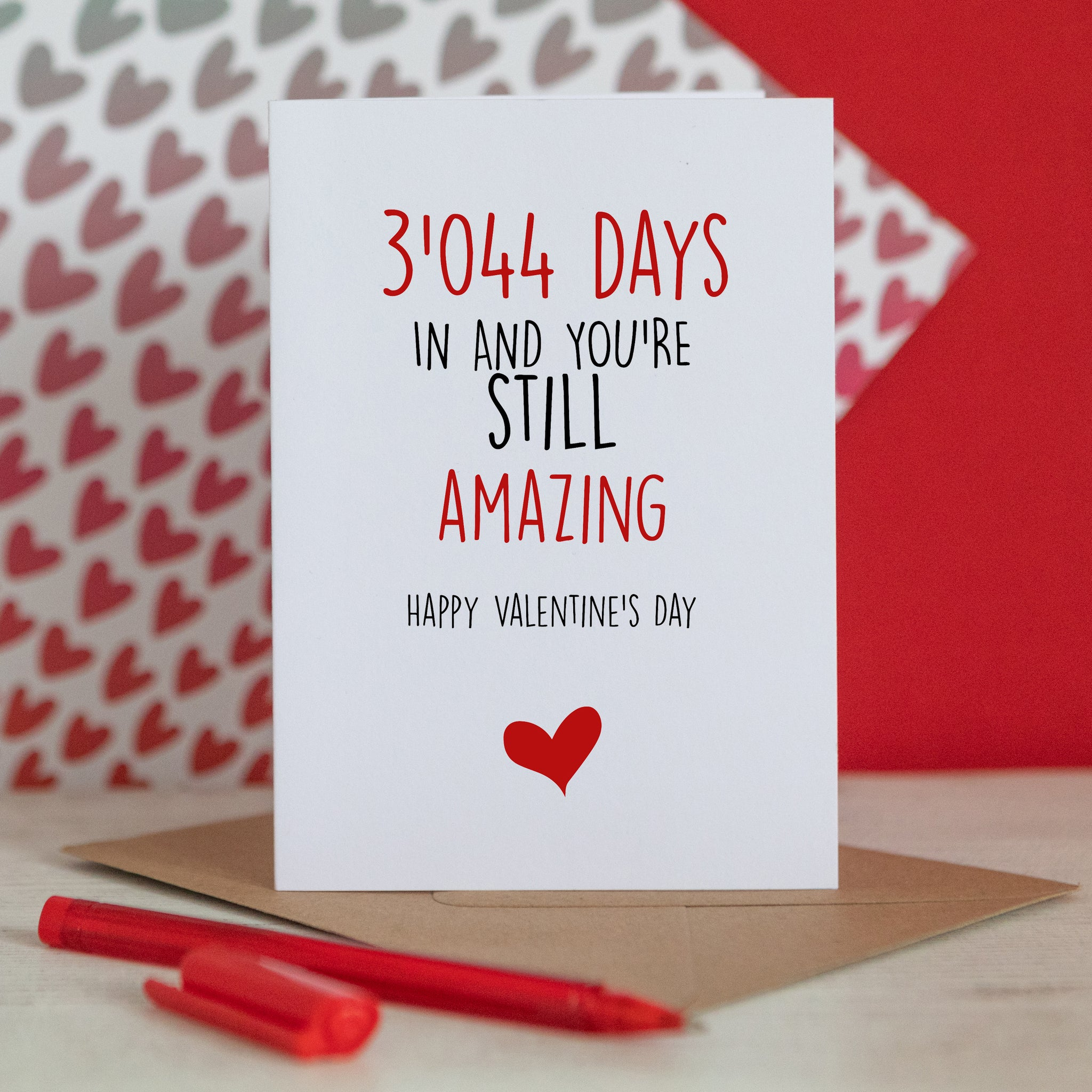 Number of Days Valentine's Card
