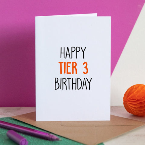 Happy Tier 3 Birthday