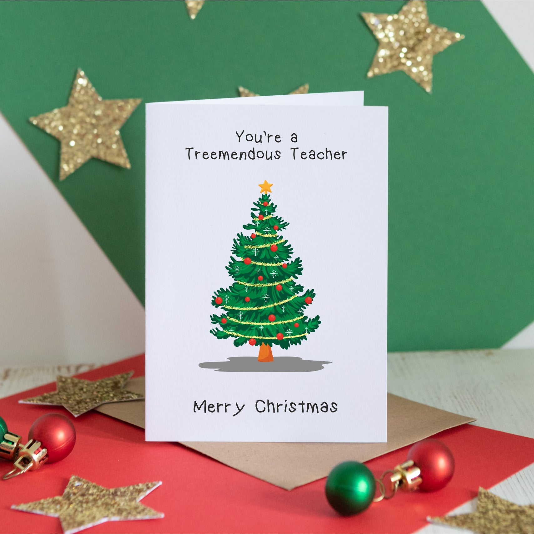Treemendous Teacher Card