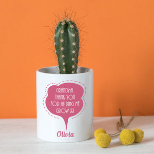 Speech bubble plant pot