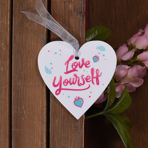 Love Yourself Hanging Heart