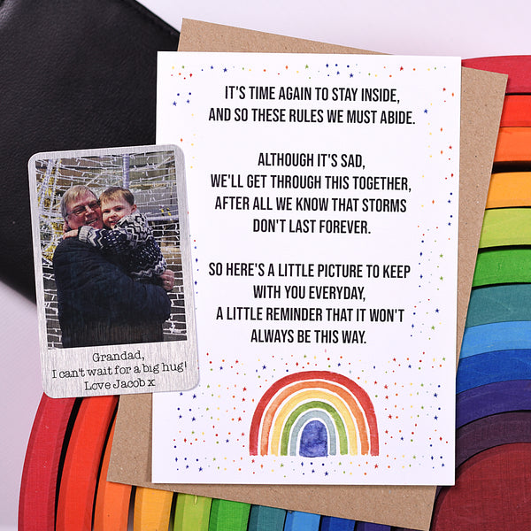 Aluminium Photo with Rainbow Poem