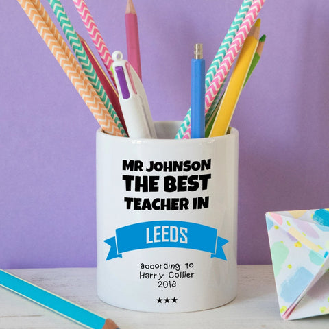 Best teacher in.... Pencil Pot