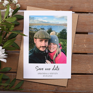 Polaroid Style Save the Date