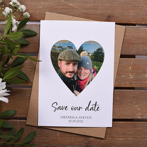 Photo Heart Save the Date