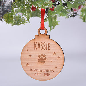Pet Memory Bauble
