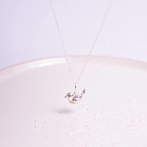 Robin Redbreast Sterling Silver Necklace