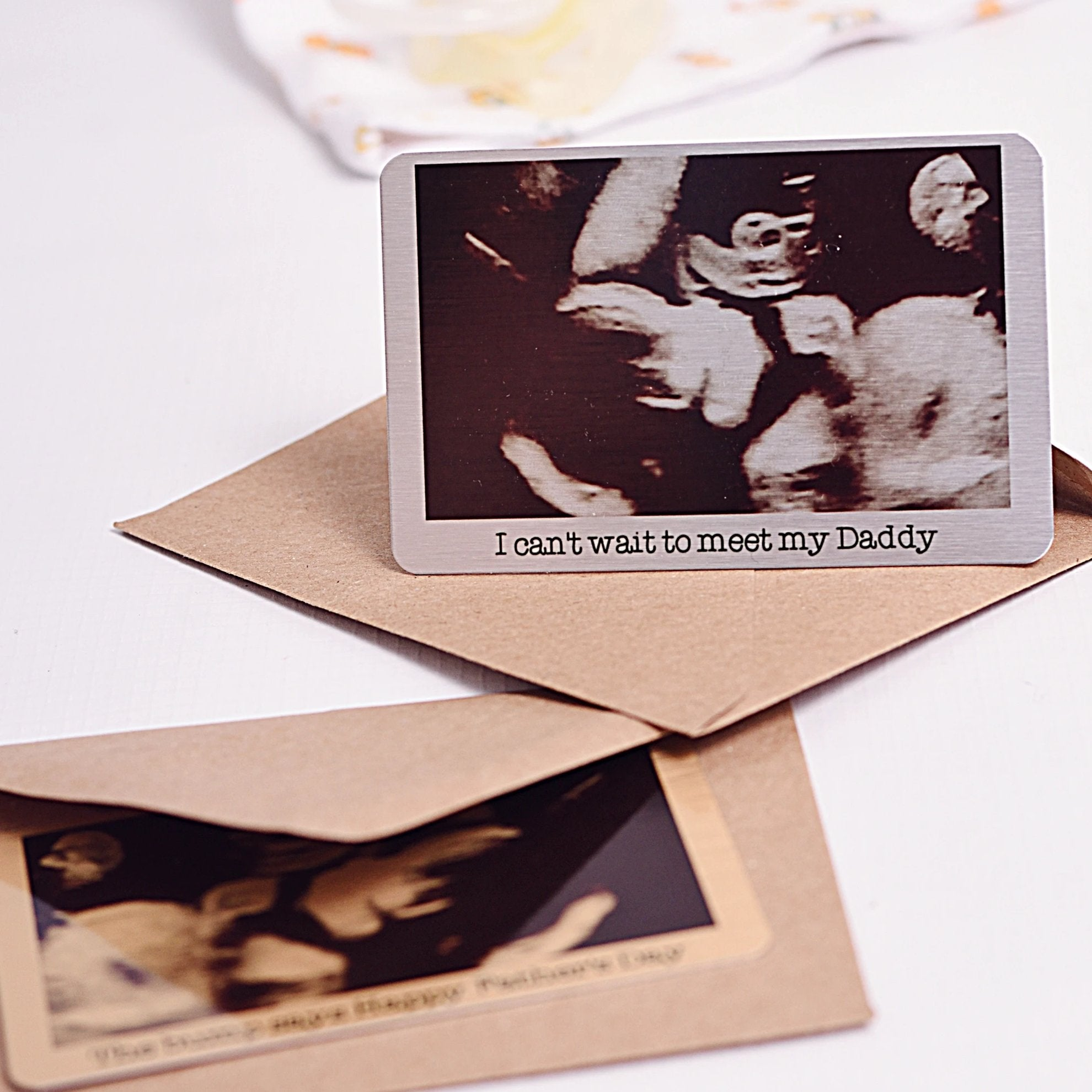 Aluminium Baby Scan Photo Wallet Card