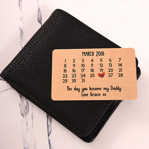 The Day You Became - Wallet card