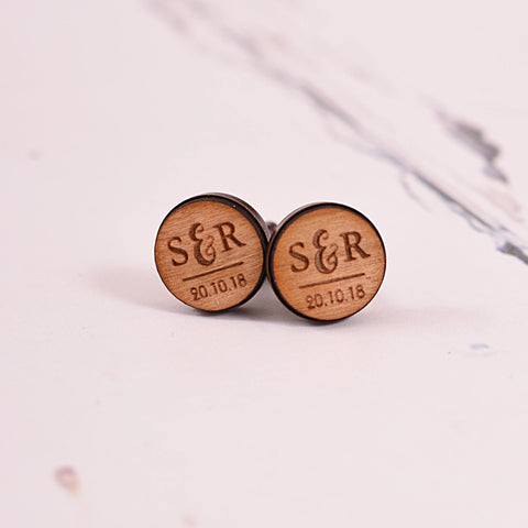 Initial and Special Occasion Date Cufflinks