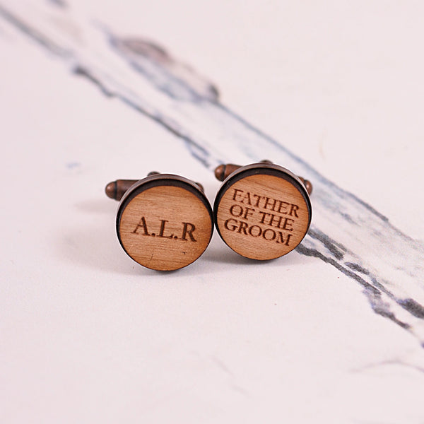 Father of the Bride/Groom Initial Cufflinks