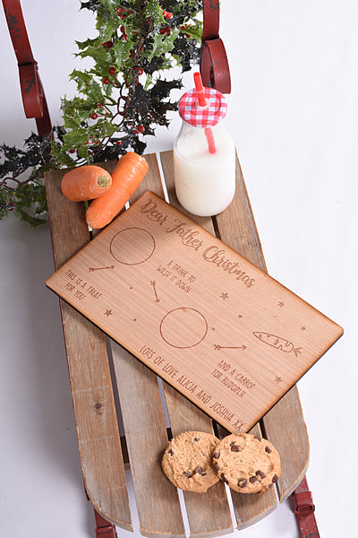 Personalised Wooden Christmas Treat Plate