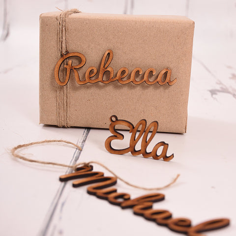 Wooden Name Gift Tag