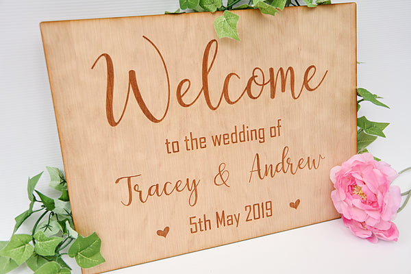 Wedding Welcome Sign - Eden Design
