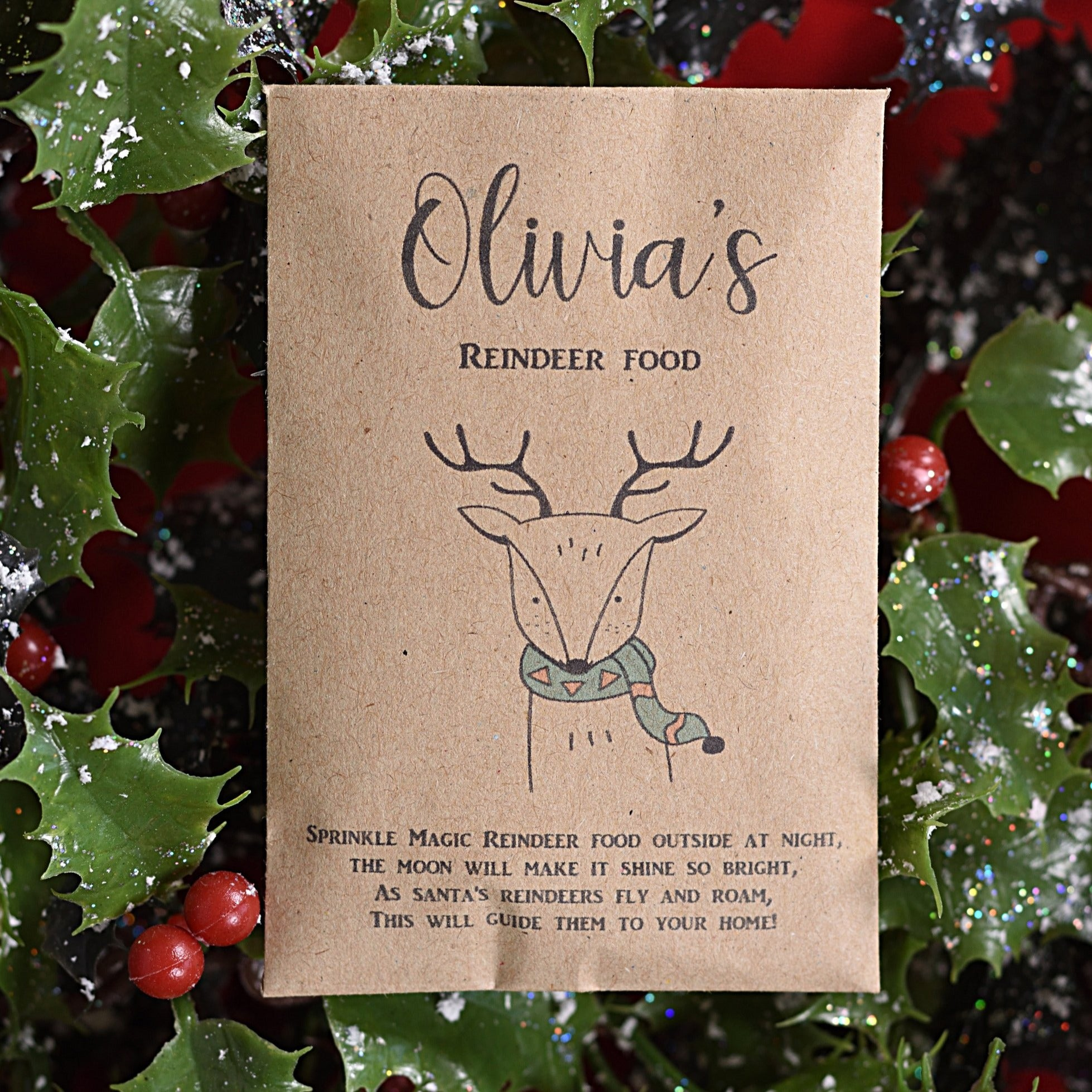 Personalised Reindeer Food