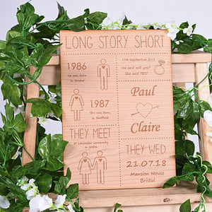 Long Story Short Wooden Sign