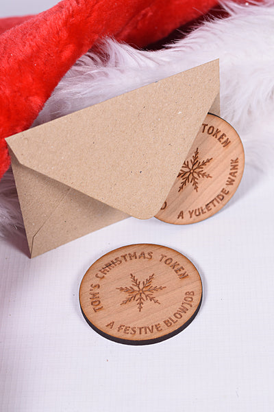 Large Personalised Christmas Token