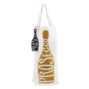 Sparkly Gold Prosecco - Bottle Bag
