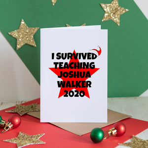 I Survived Teacher Christmas Card