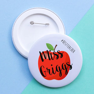 Best Teacher Apple badge