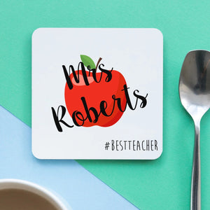 Best Teacher Apple Coaster
