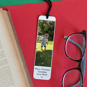 Aluminium Photo Bookmark with Personalised Wording