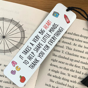 Big Heart Teacher Bookmark