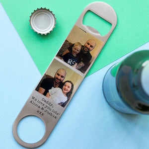 Stainless Steel Photo Bottle Opener