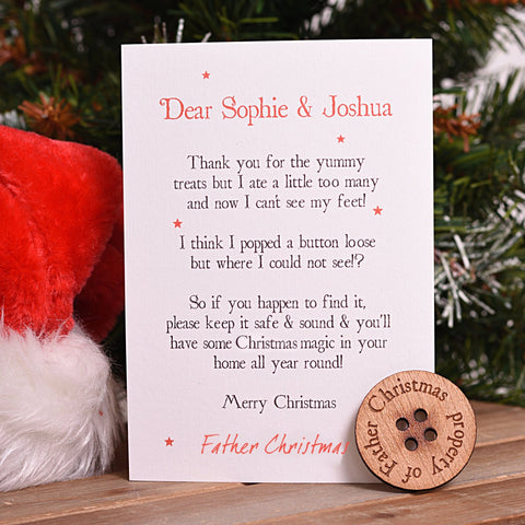 Father Christmas' Missing Button