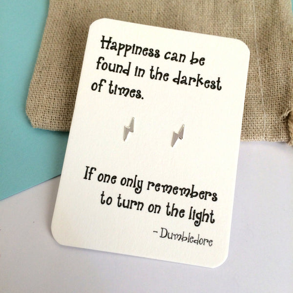 Harry Potter quote earrings - Dumbledore