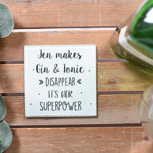 Superpower Glass Drinks Coaster
