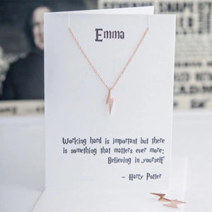 Rose Gold Harry Potter Quote Necklace